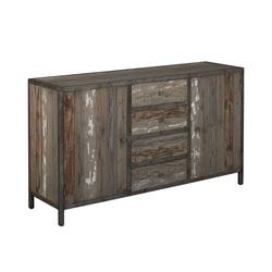 kasten-wouter-dressoir-towerliving-KL 0141-160cm-oud grenen-grijs-vintage-metaal-industrieel