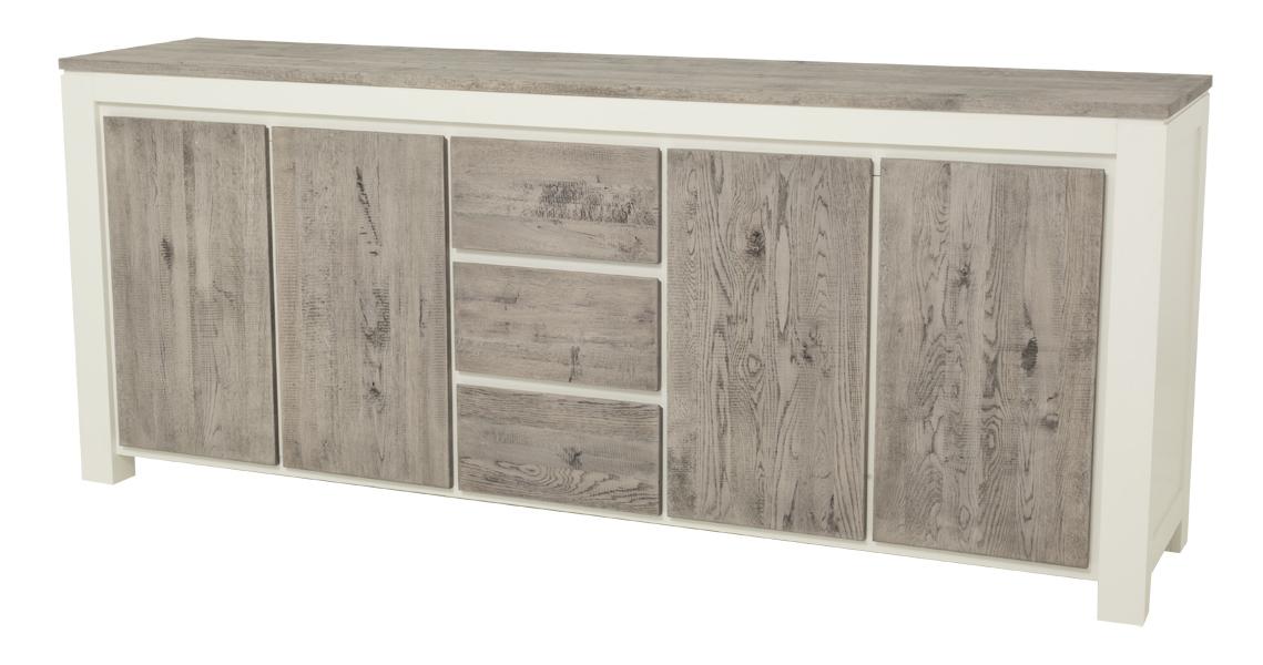 kast-roy-dressoir-towerlving-MC 0015-220cm-vergrijsd eiken-wit-landelijk-deuren-laden