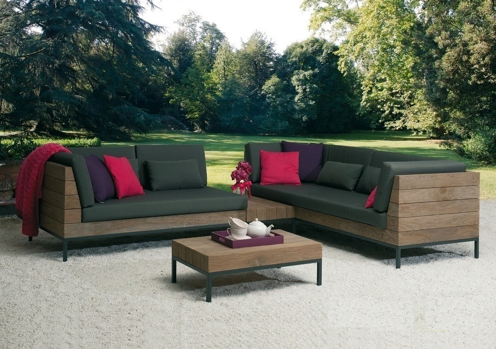 Loungeset-Long Island-Applebee-tuin-love seat rechts-teak-all weather