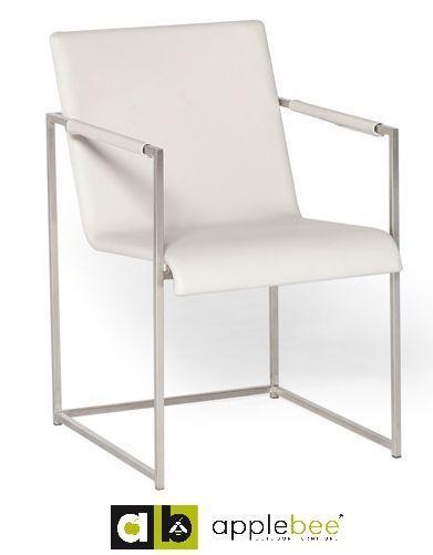 tuinstoel-diablo wit-applebee-dining chair-rvs-buitenleer