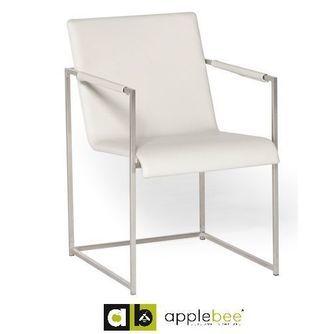 tuinstoel-diablo-wit-applebee-dining chair-rvs-buitenleer