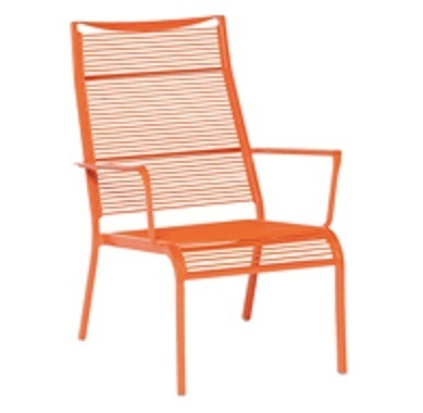 tuinstoel-Hawaii-Rope-applebee-loungestoel-kunstof draad-aluminium frame-oranje