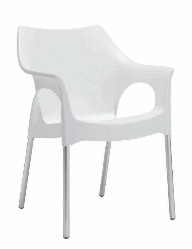 tuinstoel-Ola-scab-aluminium frame-kunststof-aluminium stapelbaar-ivoor wit