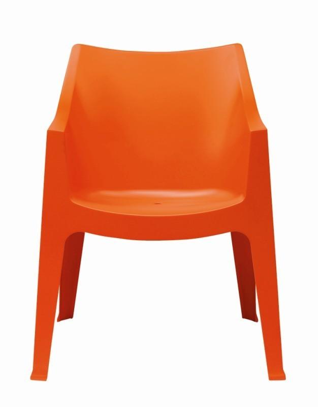 tuinstoel-coccolona-scab design-armleuning-stapelbaar-kunststof-oranje