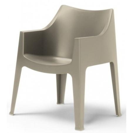 tuinstoel-coccolona-scab design-armleuning-stapelbaar-kunststof-grijs