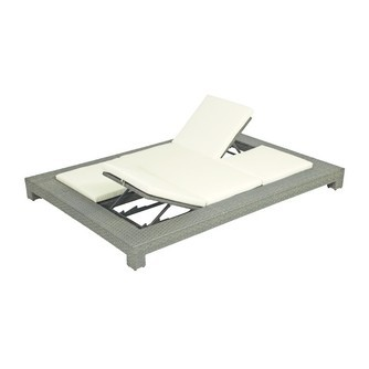 Ligbed-Relax Sunbed- Lanzarote-2 pers-applebee-biculair-aluminium frame-bee wett
