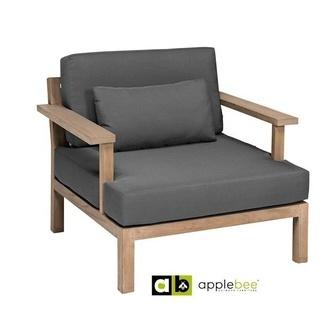 Loungechair-XXL factor-Applebee-loungestoel-teak-beewett-grijs