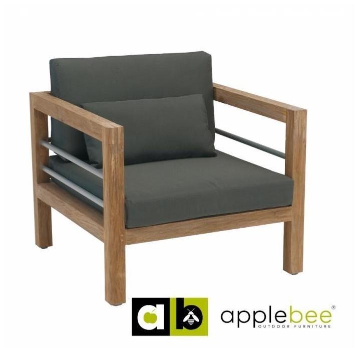 Loungeset-Del Mar-Applebee-tuin-fauteuil-grijs-beewett