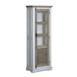 kast-vitrinekast-amanda-towerliving-TD 0013-oudwit-vergrijsd grenen-69cm-1 deur