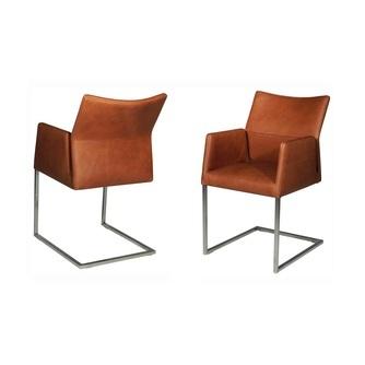 stoffen of leren slede stoelen met armleuning nouvion lennox