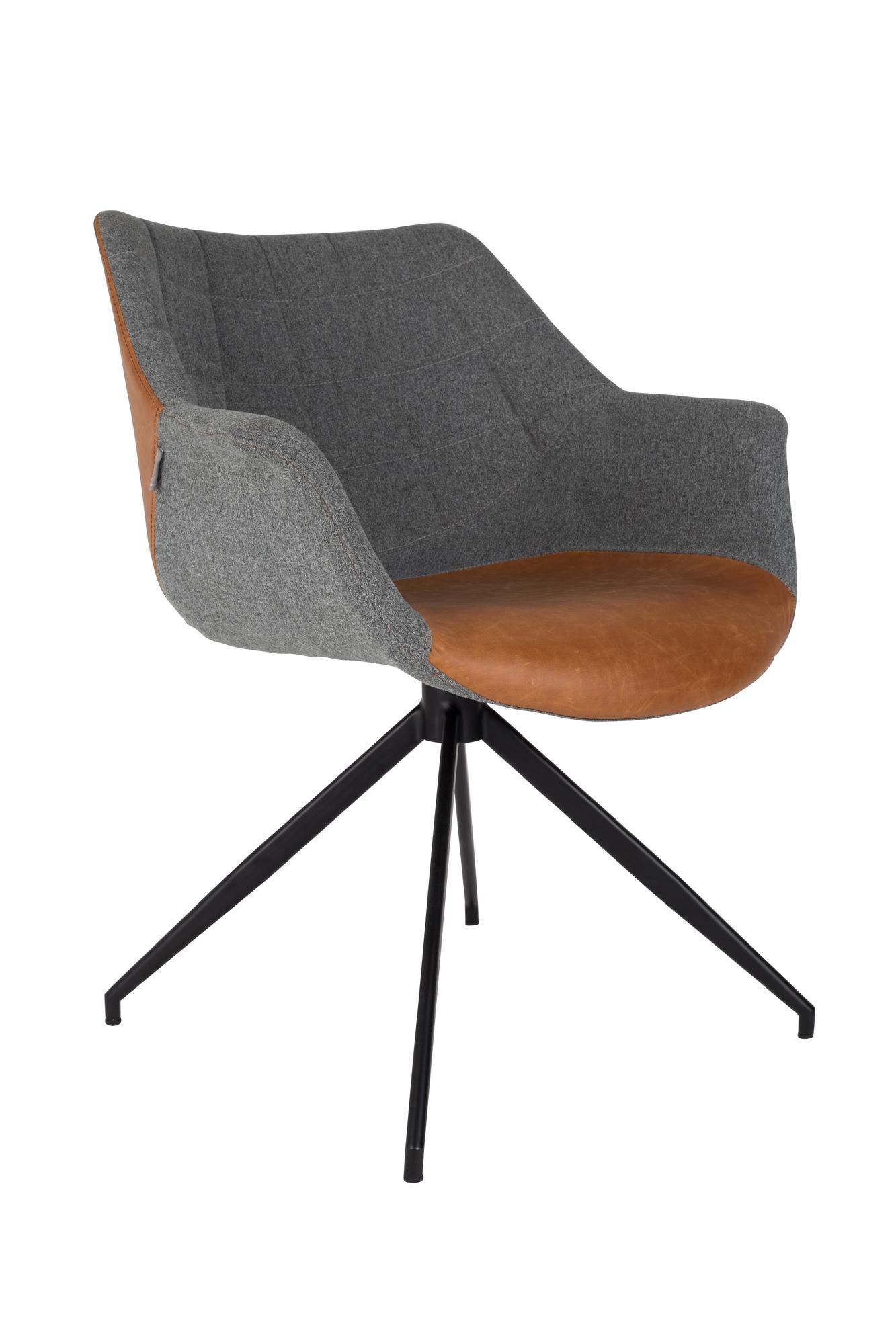 stoel-doulton-vintage-bruin