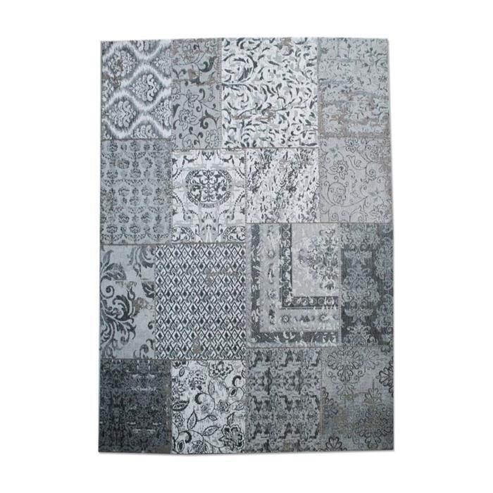 Vloerkleed Patchwork grijs