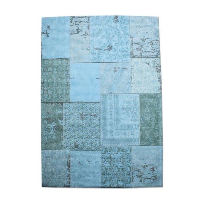 Vloerkleed Patchwork turquoise