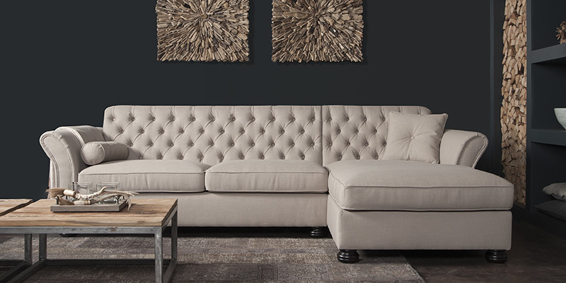 Calmont loungebank 2 zits + longchair S