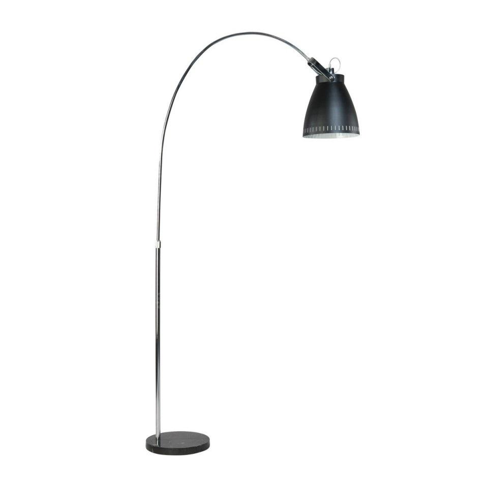 Vloerlamp Acate zwart boog klein