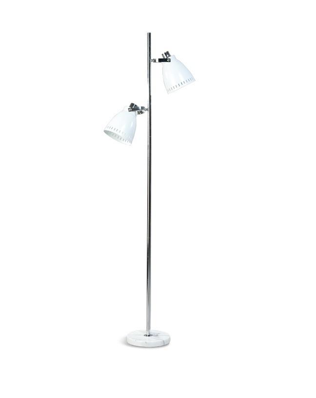 Vloerlamp Acate wit