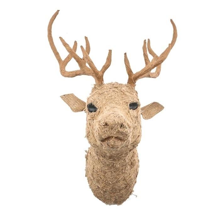 wanddecoratie-deer-head-naturel-hertenkop