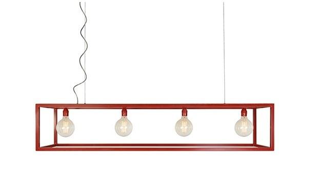 Hanglamp Rimini 4L rood