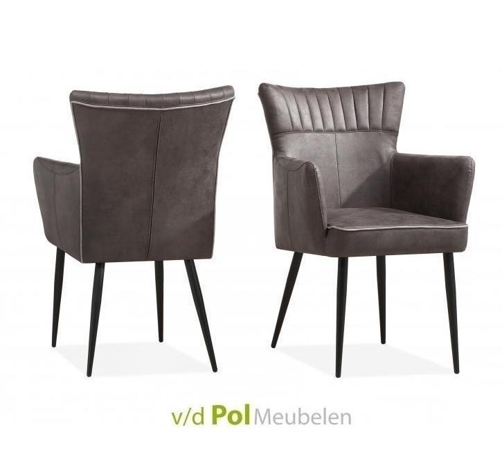 eetkamerstoel-motto-maxfurn-stoel-eetstoel-armstoel-armleuning-zwarte-metalen-poot-leem-kiezel-gladstone-stof-royale-zit-eettafel