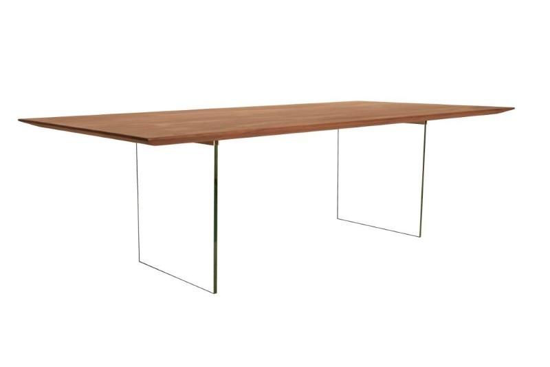 Eettafel Calvin glazen onderstel 160 cm t/m 250 cm