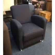 Showmodel fauteuil Rondo stof blauw