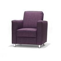 Vierkante fauteuil Wilma - leer of stof