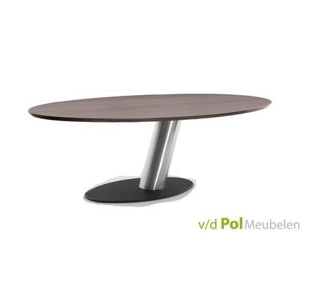 eettafel-libra-eiken-tafelblad-RVS-onderstel-ovale-tafel-modern-design-bree's-new-world