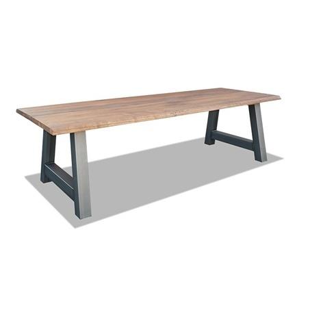 industriele-houten-eettafel-staal-a-poot