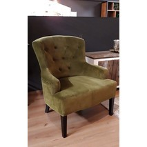 Fauteuil groen velvet - Just Design Ritz