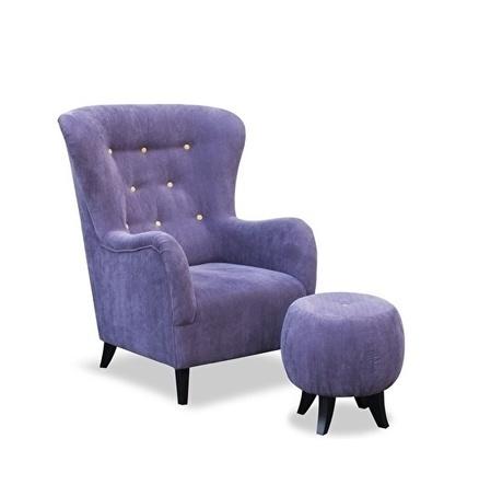 fauteuil-violet-retro-fauteuil 216-knopen-contrast-tapse poten