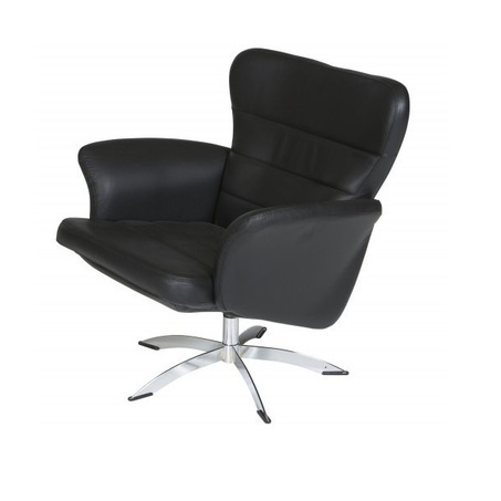 Fauteuil-1262-draaibaar-verstelbaar-verstelbare-rug-chromen-sterpoot-leder-stof-zwart-horizontale-stiksel-armleuning-modern-diepe-zit-relaxfauteuil-hjort-knudsen-utrecht-bilthoven