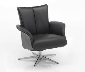Fauteuil-5204-draaibaar-verstelbaar-verstelbare-rug-chromen-sterpoot-leder-stof-zwart-horizontale-stiksel-gesloten-armleuning-modern-diepe-zit-relaxfauteuil-hjort-knudsen-utrecht-bilthoven