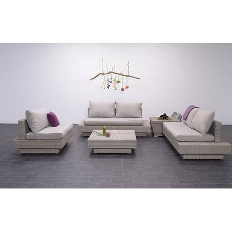 Loungeset-Zeist-Tuinsets BV-4-delig-wicker-vlechtwerk-aluminium-frame-shadow-grey-grijs-Spunpolyester-kussens-waterafstotend-eenvoudig-reinigen-zand-loungebank-zitbank-ligbank-poef-loungefauteuil-zitfauteuil-Utrecht-Bilthoven-Garden-Impressions