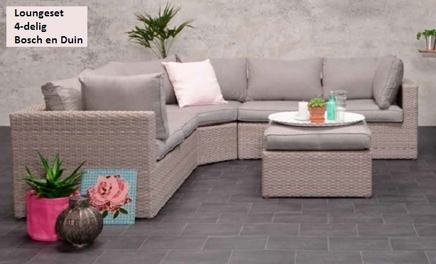 Loungehoek Bosch en Duin 4-delig antic grey