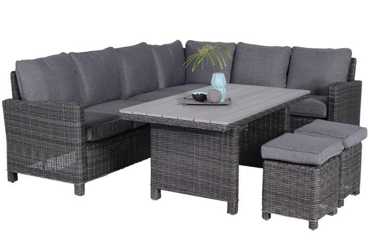 Lounge diningset Maarssen 5-delig earl grey Rechts