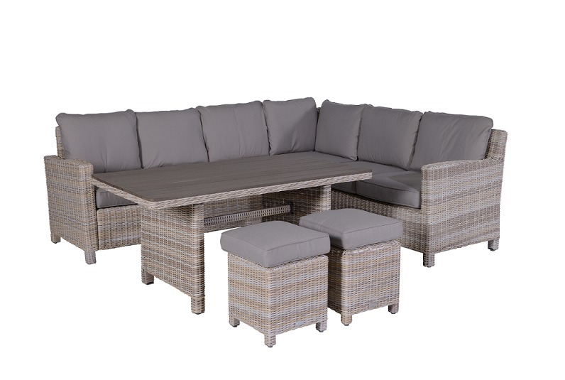 Lounge diningset Maarn 5-delig passion willow Rechts