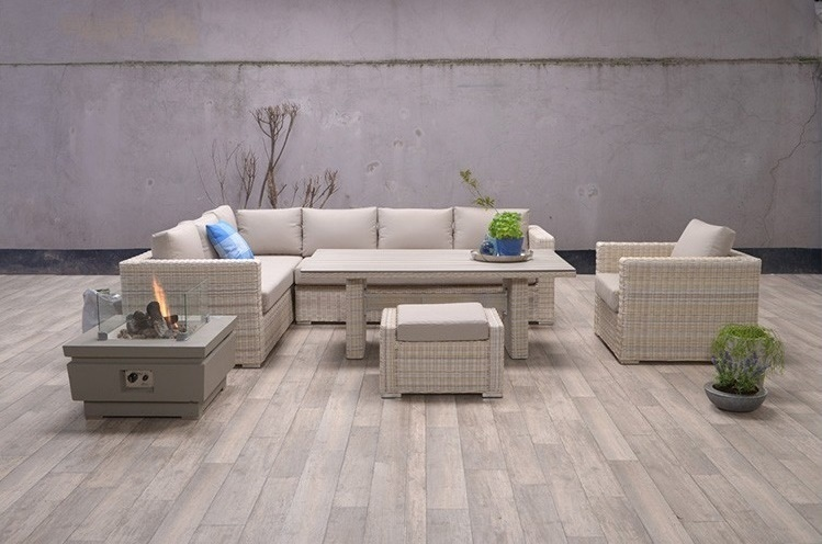 Lounge diningset Hilversum 3-delig passion willow Links