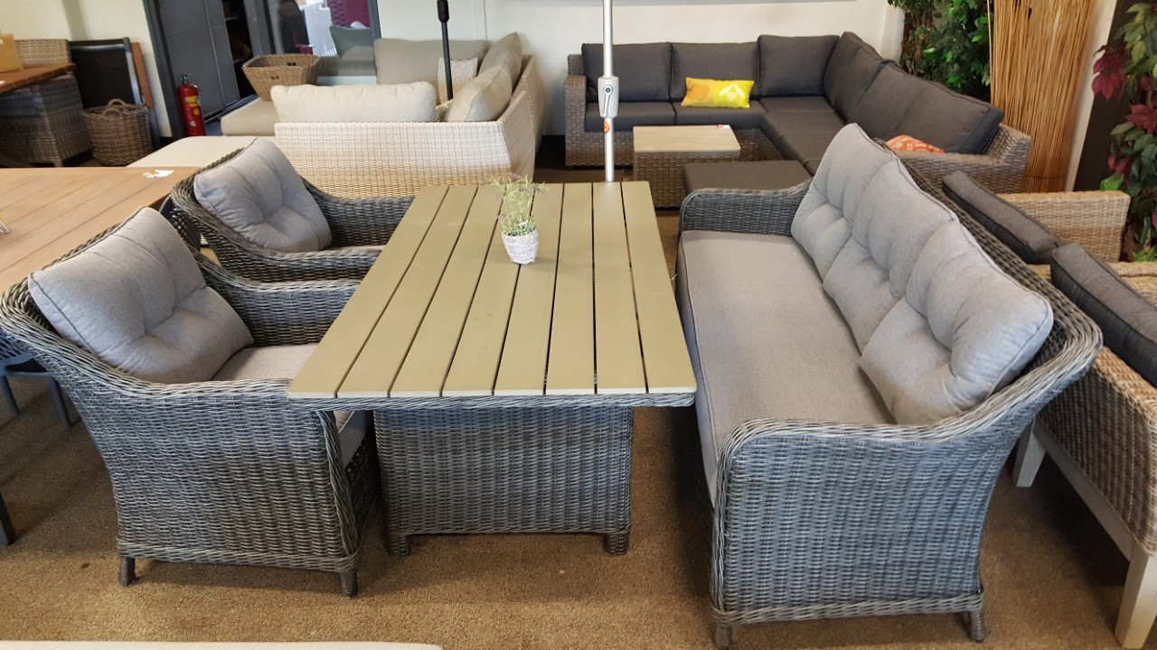 Showmodel Lounge diningset Soestdijk 4-delig earl grey