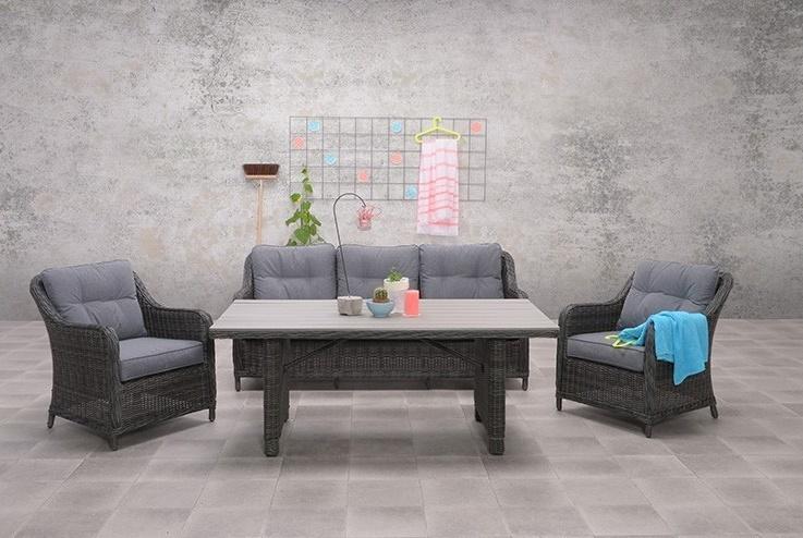 Lounge diningset Soestdijk 4-delig earl grey