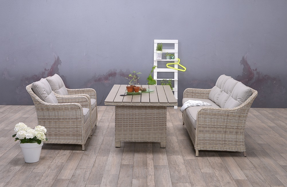 Dining loungeset Soesterberg 4-delig passion willow