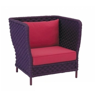 loungestoel-crochet-applebee-haakweefsel-beewett kussens-purple-framboosrood