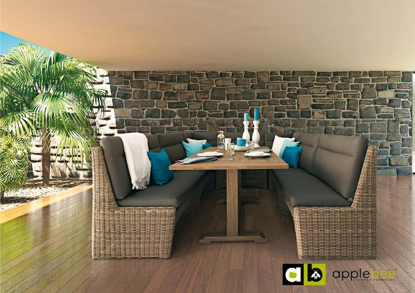 Lounge-diningset Esquina Applebee 5-delig