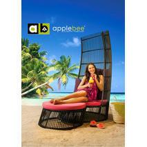 Loungestoel Cage met footstool Applebee