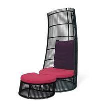 Loungestoel Cage Applebee met footstool