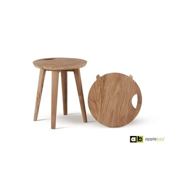 Dressing-stool-bijzettafel-krukje-applebbe-teak-onbehandeld-handvat