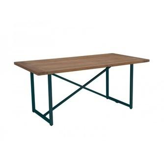 tuintafel-tafel-buiten-tuin-outdoor-air-applebee-grijs-210-170-cm-grijze-poot-onderstel-kruispoot-X-poot-teakhout-fris-hip-modern-antraciet-donkergrijs