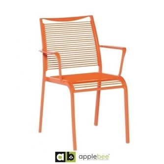 tuinstoel-hawaii-oranje-applebee-aluminium-kunststof-draad-hip-fris-kleurtje-terrasstoel-horecastoel-utrecht-stapelbaar