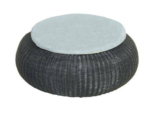 Outlet poef cocoon met grijs kussen van applebee for Cocoon kussen