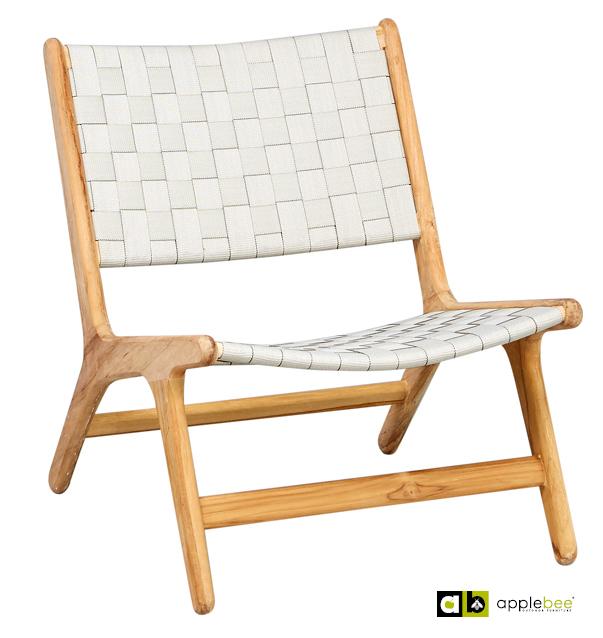 Loungestoel Juul lage rug nature Applebee