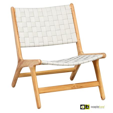 loungestoel-juul-lage-rug-wit-applebee-teakhout-belt-vlechtwerk